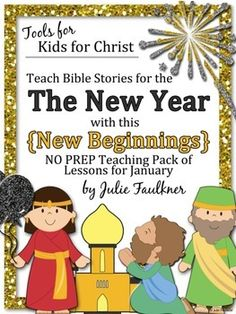 New Year January Bible Lessons Stories Coloring Pages Craft