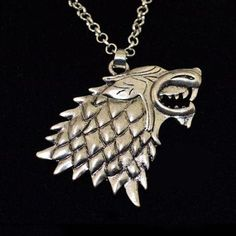 Stark Wolf Necklace Game of Thrones Pendant