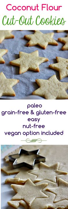 Coconut Flour Cut-Out Cookies {grain-free, gluten-free, paleo, vegan option} | power hungry