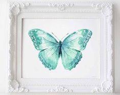 Simple Colorful Printable Art 30% off when you buy by EphericaArt Blue Grey Walls, Baby Room Wall Decor, Grey Wall Art, Embroidery Hoop Art, Butterfly Art, Nursery Prints, Purple Flowers, Printable Wall Art, Etsy