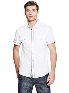 3aca1bd140 GUESS Factory Men s Cash Poplin Shirt GUESS Factory https   www.amazon.