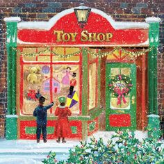 Image result for old fashioned window toy store