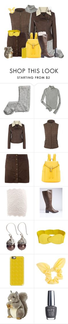 """""""Squirrel Girl Fall Fashion"""" by leighanned ❤ liked on Polyvore featuring H&M, Aéropostale, Oasis, Dorothy Perkins, Neiman Marcus, Lane Bryant, Casetify, Aurora World and OPI"""