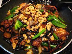 THAI CUSINE: Thai Cashew Chicken (Gai Pad Mamuang Him Ma Pan)