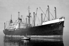 """ROTTI  Eigenaar   N.V. Stoomvaart Maatschappij """"Nederland"""", Amsterdam  Bouwwerf   Sun Shipbuilding & Drydock Co., Chester / 559  Bouwjaar   ..."""