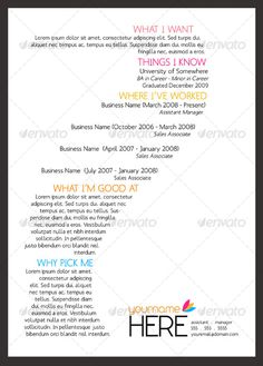 Graphic Design: Cover Letter & Résumé | Graphic Design + Signage ...