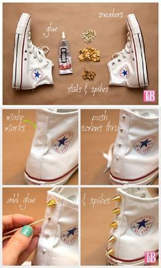 How To Easily Stud Your Duds - 20 Simple DIY Clothes Refashion Tutorials for Spring | GleamItUp