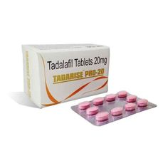 Buy Tadarise Pro 20mg Online is another name of Tadalafil. It is a medium potency medicine to cure erectile dysfunction. It relaxes and improves blood flow to certain parts of the body. It's most common use is in improving sexual performance in males.