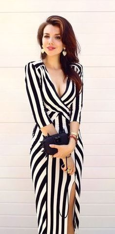 Cut out, sailor stripe dress