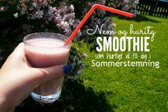 Lær hvordan du laver denne super nemme smoothie på aseaofinspiration.blogspot.dk