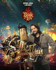 A maker of music, a singer of songs. Diego Luna voices Manolo in the #BookOfLife, now playing in theaters!