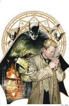 I think that's John Constantine with Batman