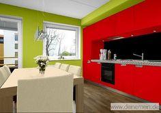 Trendtapeten In Rot Und Die Verschiedensten Farbkombinationen Mit Rottönen,  Als Dominate Wandfarbe Mit Kontrast  Und Akzentfarbe.