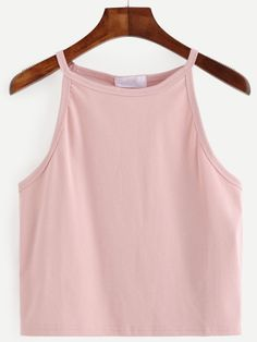 SheIn offers Pink Racer Cami Top & more to fit your fashionable needs. Cute Summer Outfits, Girly Outfits, Casual Outfits, Cute Outfits, Cami Crop Top, Cami Tops, Camisole Top, Teen Fashion, Fashion Outfits