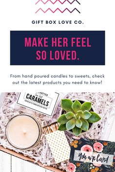 Make Her Feel So LOVED! From hand poured candles to sweets, check out these amazing gift boxes! // Gift Box Love Co -- #giftideas #holidays #christmas #xmas