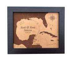 3rd anniversary gift leather map laser engraved by JWdesignStudio