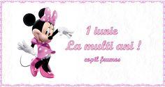1 Iunie La multi ani! copil frumos Minnie Mouse, Disney Characters, Baby, Crafts, Hip Bones, Art, Manualidades, Baby Humor, Handmade Crafts