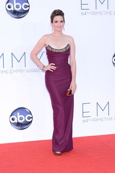 Emmys 2012: The Best of the Red Carpet - Best comedy actress nominee Tina Fey is a red carpet stunner in an ornate gown by Vivienne Westwood.