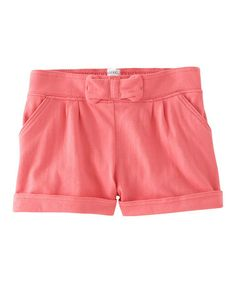 Look what I found on #zulily! Coral Bow Shorts - Toddler & Girls #zulilyfinds