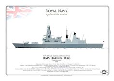 Royal Navy HMS Daring (D32) Type 45 Air-Defence Destroyers Daring-class, 2008