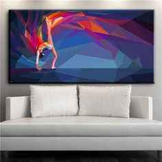 94680468d9 What a gorgeous oil canvas print painting! Featuring a gymnast in a pose