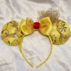 Check out this item in my Etsy shop https://www.etsy.com/listing/244215689/princess-belle-inspired-mouse-ears