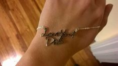 My Dad passed away, we made my sister this necklace in his handwritting. - Imgur