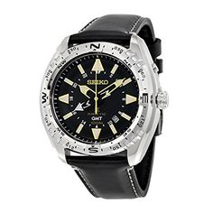 Seiko PROSPEX Kinetic quartz watch SUN053P1 Black >>> To view further for this item, visit the image link. (This is an affiliate link and I receive a commission for the sales)