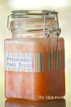 Make your own Peppermint Foot Scrub via Amy Huntley (The Idea Room) - Click image to find more hot Pinterest pins