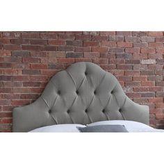Skyline Furniture Tufted Linen Upholstered Headboard & Reviews   Wayfair