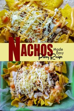 Home Made Nachos - Pinoy Recipe - Friend Cheap Menu Easy Chicken Recipes, Beef Recipes, Snack Recipes, Nacho Chips, Tortilla Chips, Pinoy Christmas Food, Pinoy Recipe, Cheese Whiz