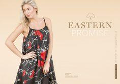 Jayley Summer Preview 2016 Eastern inspired poppy print asymmetric dress