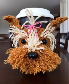 Yorkie Mug Cozy: #crochet pattern for purchase