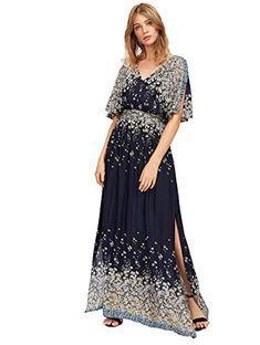 online shopping for Milumia Milumia Women s Boho Split Tie-Waist Vintage  Print Maxi Dress from top store. See new offer for Milumia Milumia Women s  Boho ... c05326ab2599