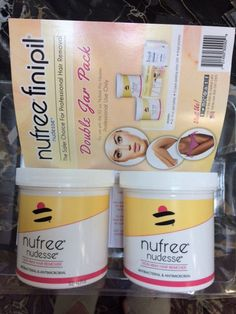 Waxing Supplies: Nufree Double Jar Pack 16Oz Refill Hair Removal Wax - New -> BUY IT NOW ONLY: $100 on eBay!
