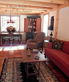 Home In New England Primitive Country Homes Living Room Furniture