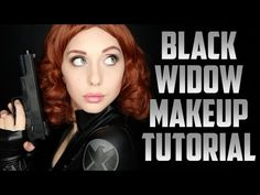 Black Widow (Natasha Romanoff) Makeup Tutorial: Avengers Cosplay Transformation - YouTube