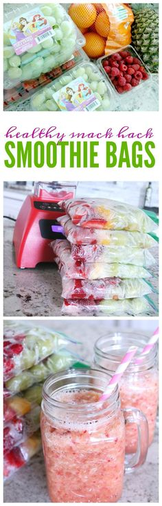 Smoothie Bags Snack Hack for Kids! A Healthy After School Snack Idea that Kids Love!