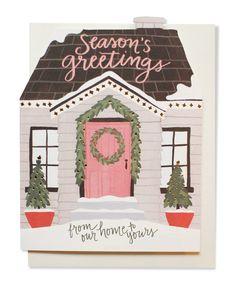 holiday house cutout card