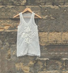 Summer White Crochet Cotton Top for Women Handmade by PetiteIda, $45.00