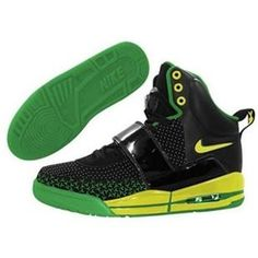 Kids Air Yeezy Shoes Black Green