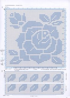filet crochet lace squares - dogwood and roses Crochet Lace Edging, Crochet Cross, Crochet Squares, Crochet Home, Crochet Doilies, Easy Crochet, Crochet Stitches Chart, Filet Crochet Charts, Crochet Diagram