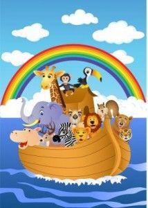 Noah's Ark Ideas for Sunday School Sunday School Rooms, Sunday School Lessons, Abc Bible Verses, Church Nursery Decor, Church Crafts, Kids Cards, Baby Quilts, Rainbow Colors, Murals