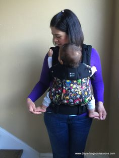 Comparing apples to chocolate, a Baby carrier showdown. Pictured is #LILLEbaby COMPLETE All Seasons. Compares LILLEbaby, Beco Soleil and Gemini and Ergo 360.