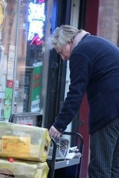 December 25, 2008 --  Alan Rickman on Christmas Day in the West Village, NY.