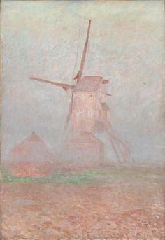 Emile Claus (Belgian, 1860-1924), Windmill in morning mist, 1905. Oil on canvas, 73 x 50 cm.