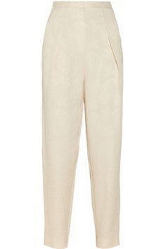 The RowGiacomo silk and wool-blend cloqué pants