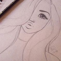 Immagine correlata Zugehöriges Bild The post Zugehöriges Bild appeared first on Frisuren Tips - People Drawing Pencil Art Drawings, Cute Drawings, Art Sketches, Easy Hair Drawings, Cool Easy Drawings, Amazing Drawings, Beautiful Drawings, Pretty Drawings Of Girls, Pretty Girl Drawing