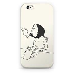 Capinha de Celular - Outlines - Smoker Writer - Cecília Murgel Drawings