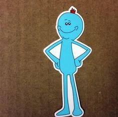 Rick and Morty Mr. Meeseeks Die-Cut Premium Vinyl by DosTorres